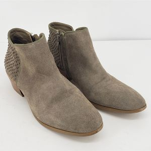 Steve Madden Womens Ankle Boots Booties Gray Cuban
